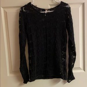 Free People Lace Shirt